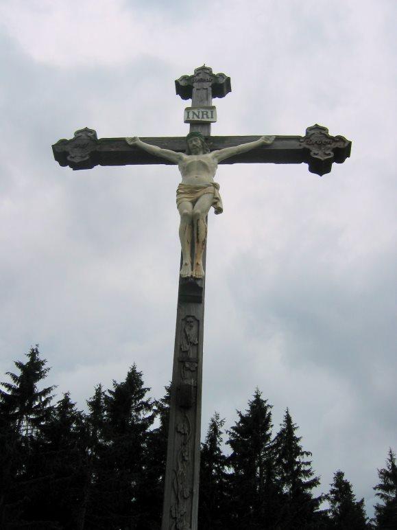 Das Gipfelkreuz der Gindelalmschneid