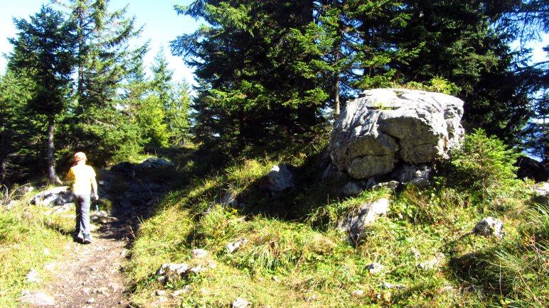 Wandern im Gipfelbereich des Pendling