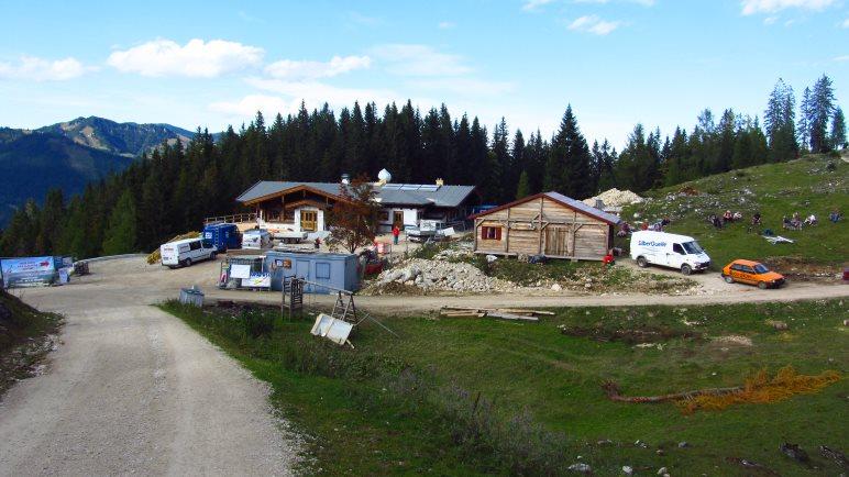 Die Baustelle der Kala-Alm im Oktober 2012