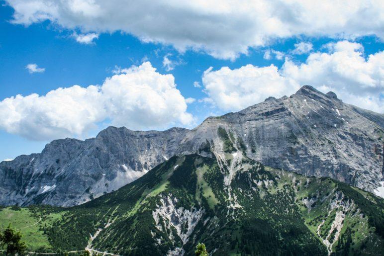 Blick auf die Karwendelberge
