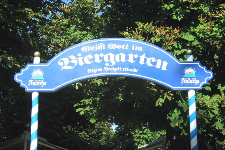 Sehr familienfreundlich ist der Biergarten im Kloster Andechs
