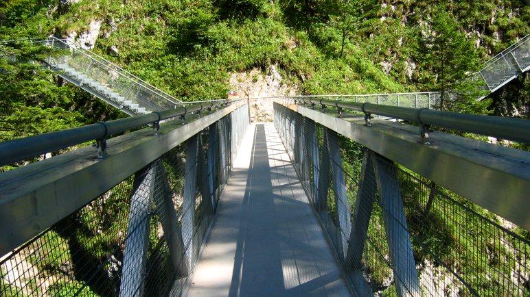 Eine Geisterklamm-Brücke