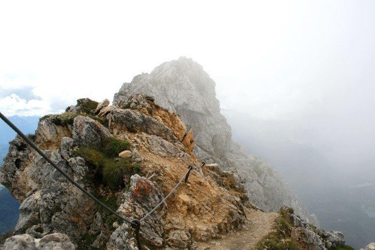 Beginn des Klettersteigs - hier gehen wir nicht weiter