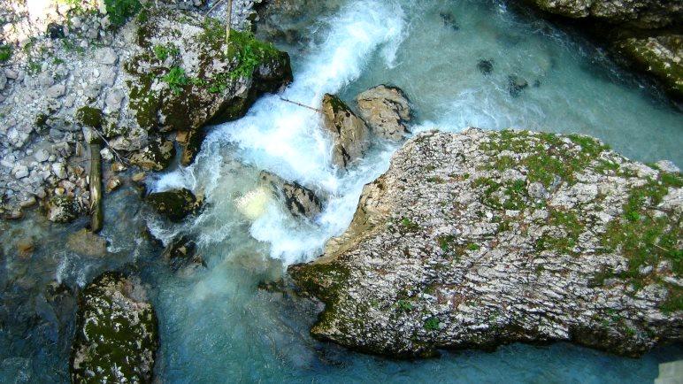 Wildwasser in der Geisterklamm