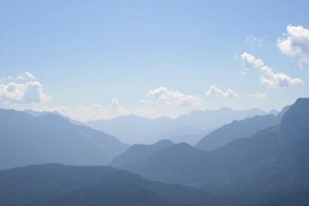 Panoramablick vom Wank Richtung Karwendel