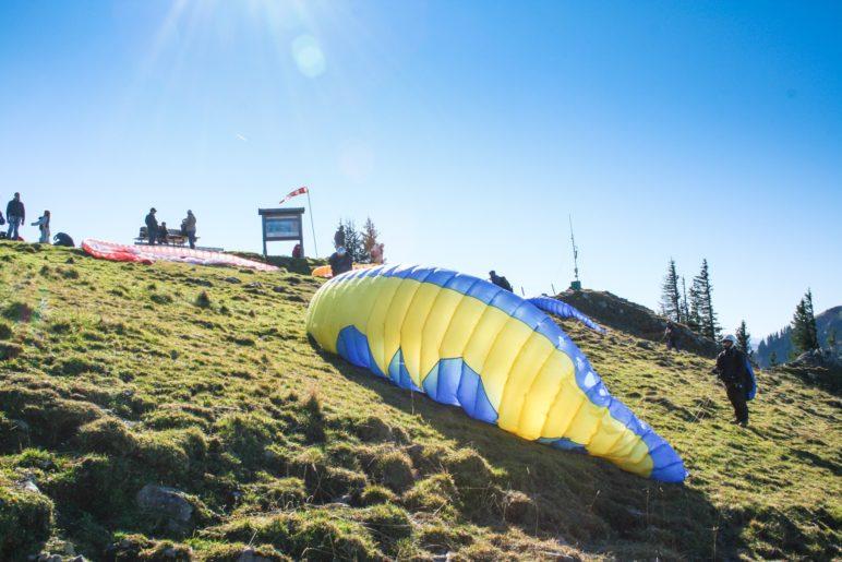 Am Startplatz der Paraglider