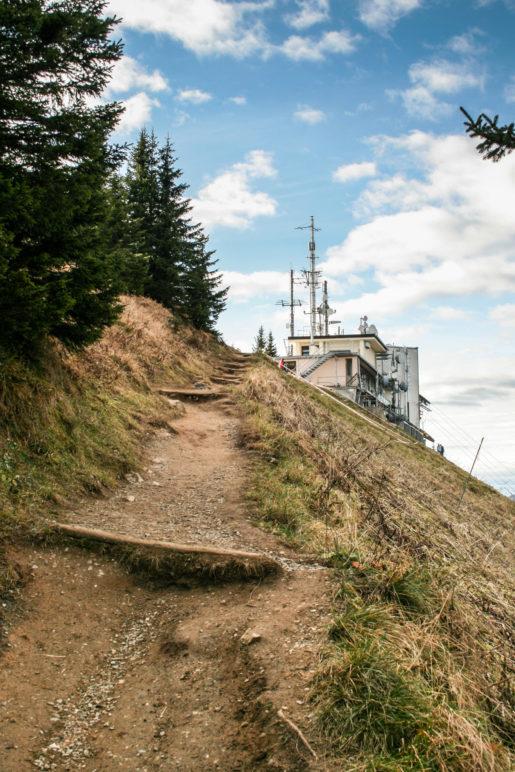 Blick zurück zur Bergstation der Laberbahn