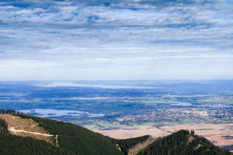 Blick vom Laberjoch nach Norden Richtung München