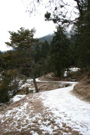 Der Kramerplateauweg am Kramer in Garmisch