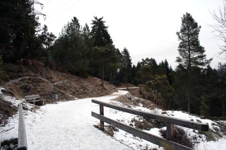Auf dem Kramerplateauweg oberhalb von Garmisch