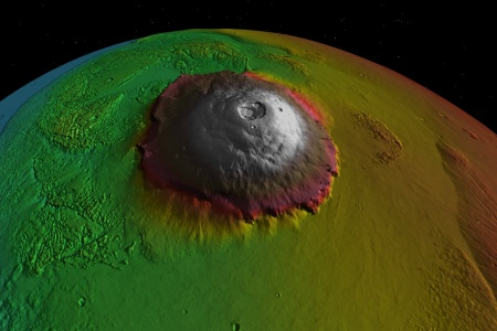 Olympus Mons, der höchste Berg unseres Sonnensystems, NASA/courtesy of nasaimages.org