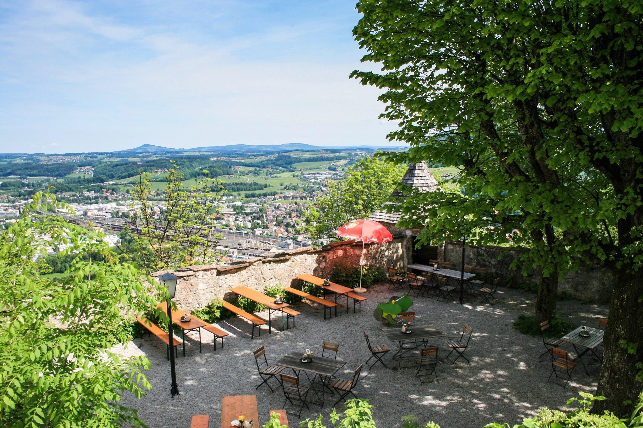 Der Gastgarten des Franziski-Schlössls
