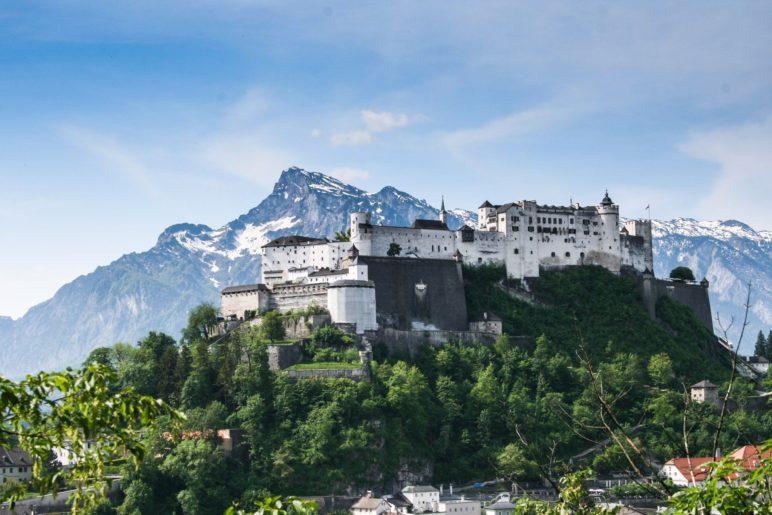 Blick hinüber zur Festung Hohensalzburg
