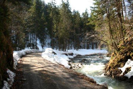 Der Weg entlang des Söllbachs