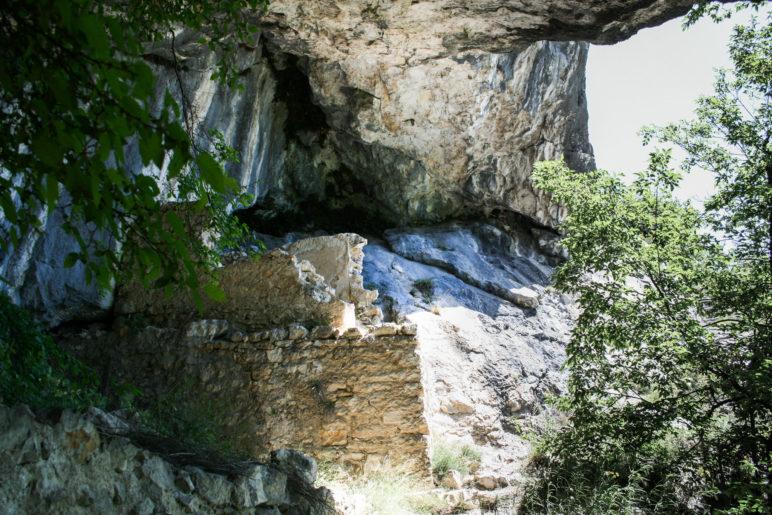 Eine der alten Stellungen am Nodice