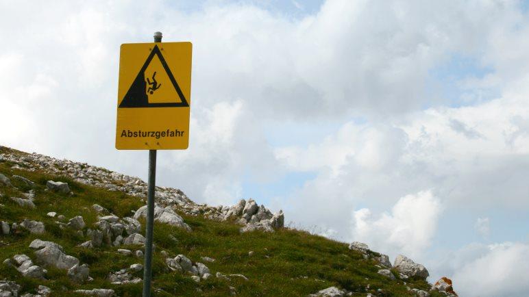Vorsicht in den Bergen!