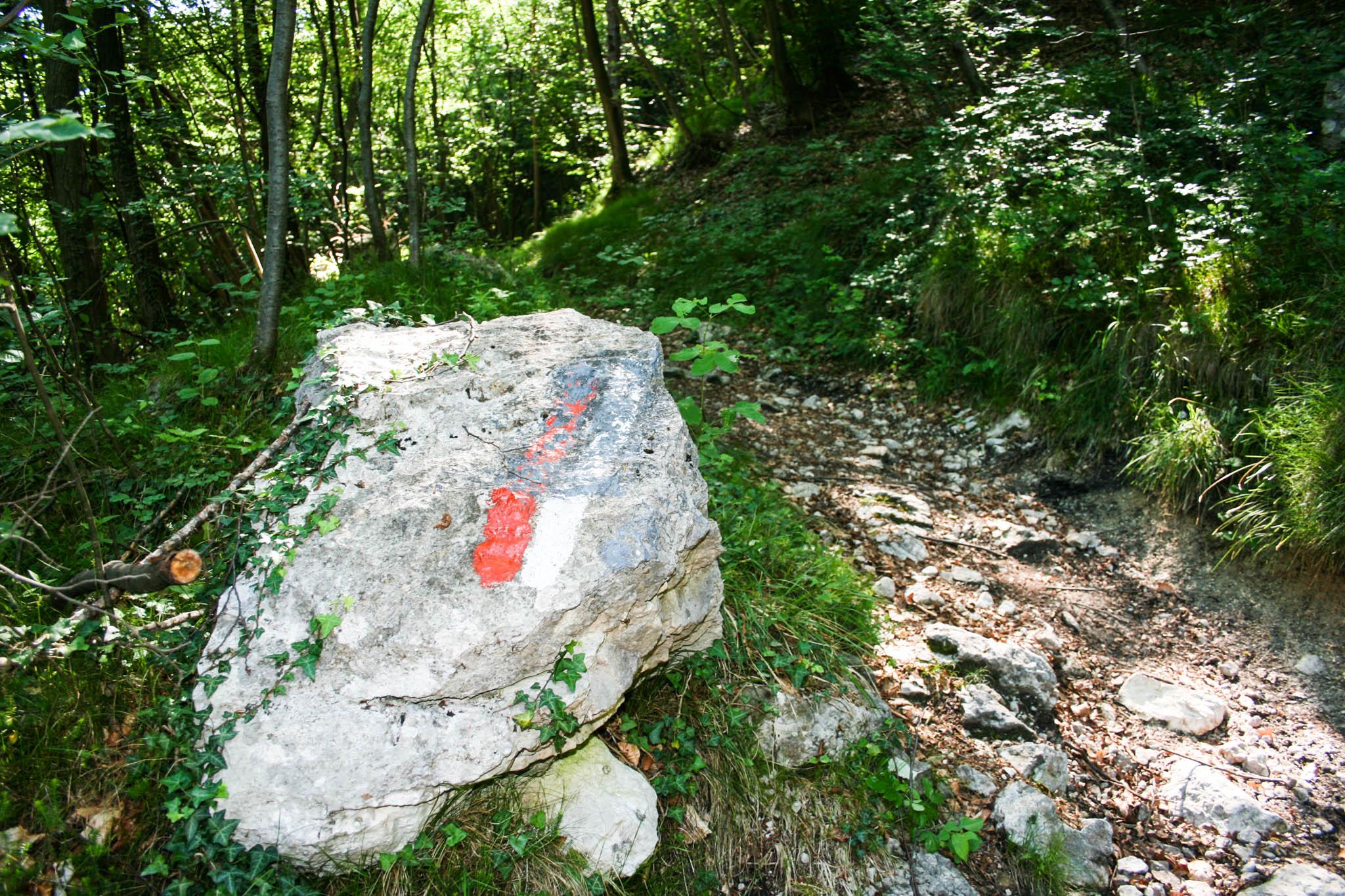 Der Weg von Pregasina auf den Nodice
