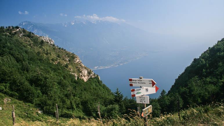An der Bocca Larici mit fantastischem Blick auf den Gardasee