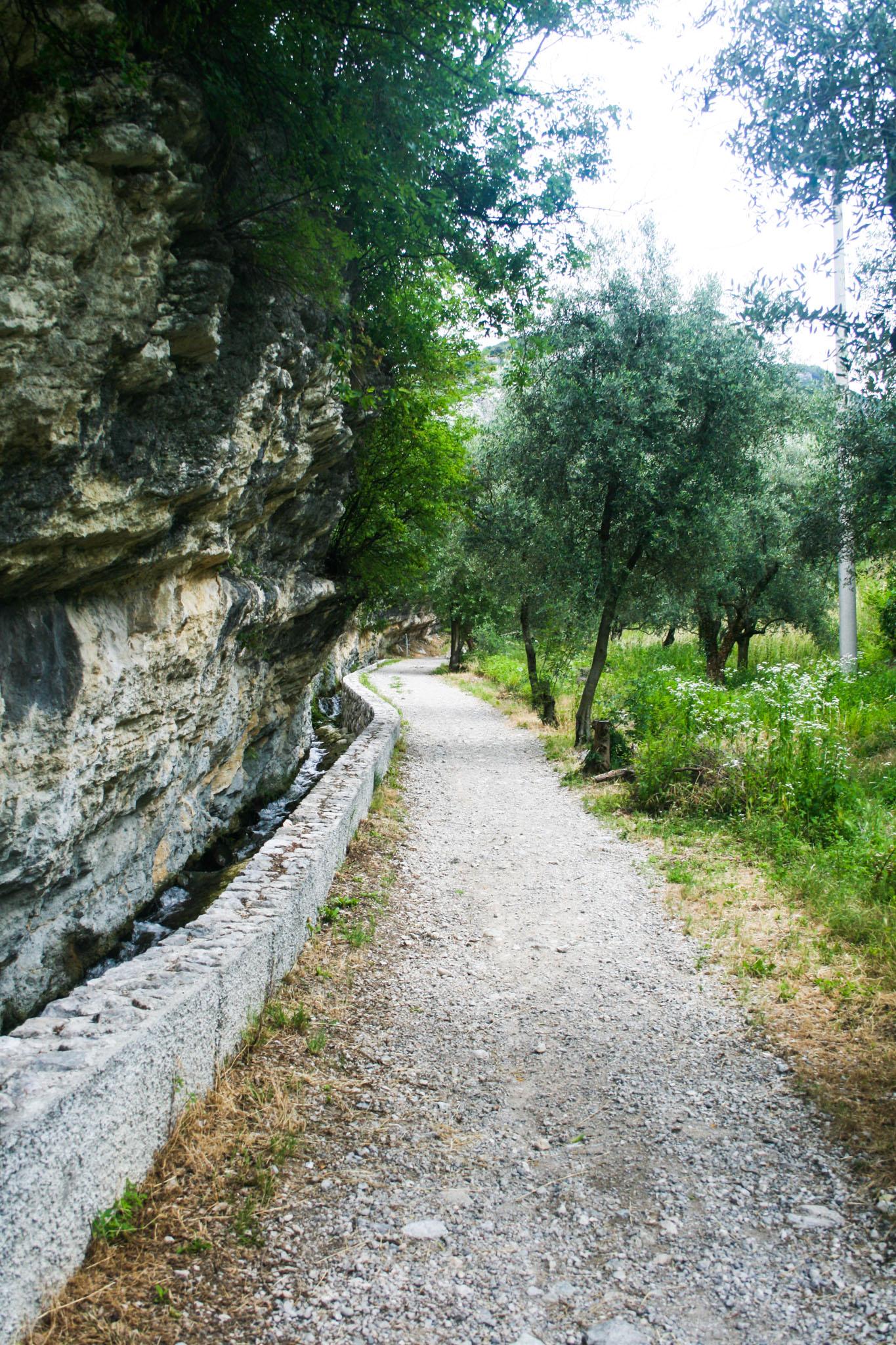 Auf dem Weg von Torbole zu den Marmitte dei Giganti