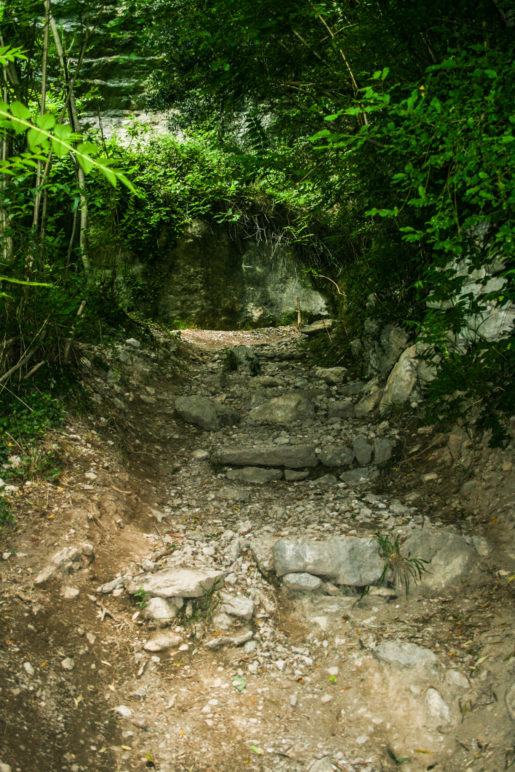 Der Weg wird steiniger und steiler