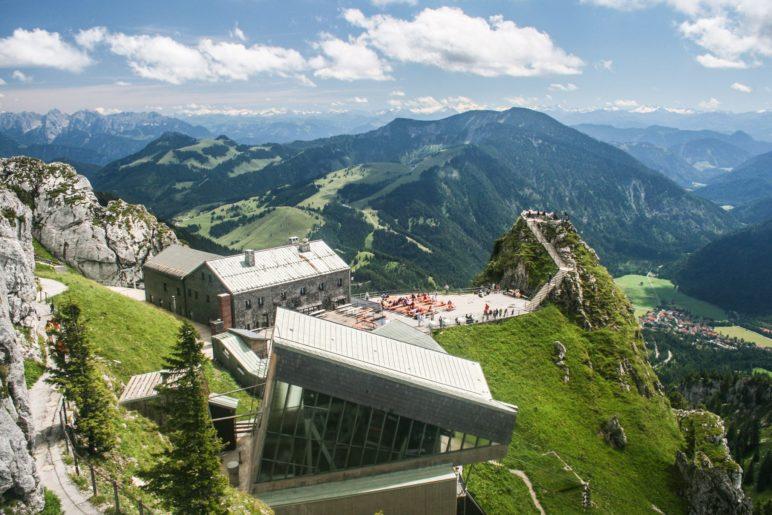 Wendelsteinhaus, Seilbahnstation und Aussichtspunkt Gacher Blick