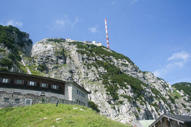 Der Gipfel des Wendelstein, vom Wendelsteinhaus aus gesehen