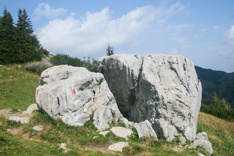 Der Kletterfelsen am Taubensteinsattel