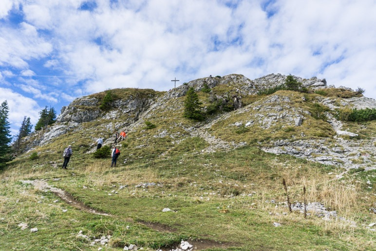 Der felsige Taubenstein-Gipfel