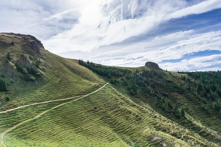 Der Wanderweg zum Kirchsteinsattel