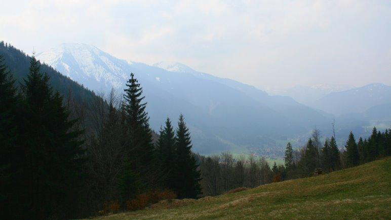 Ausblick von der Galaun auf den Wallberg und Rottach-Egern