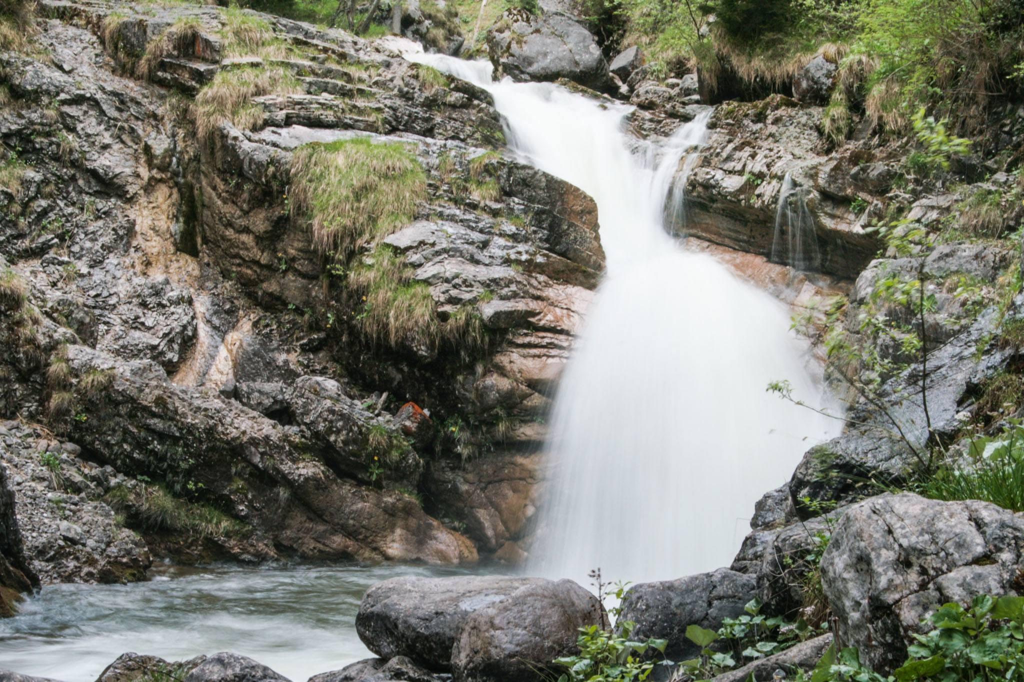 Die Kuhfluchtwasserfälle in Farchant