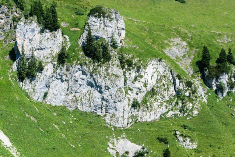 Der Wilderland Kletterfels mit vielen Routen