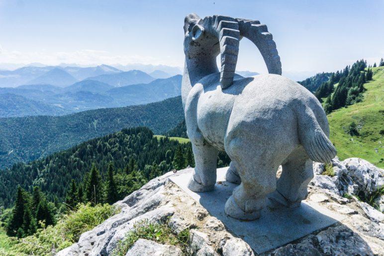 Der Steinbock hat den besten Ausblick auf die Alpenkette