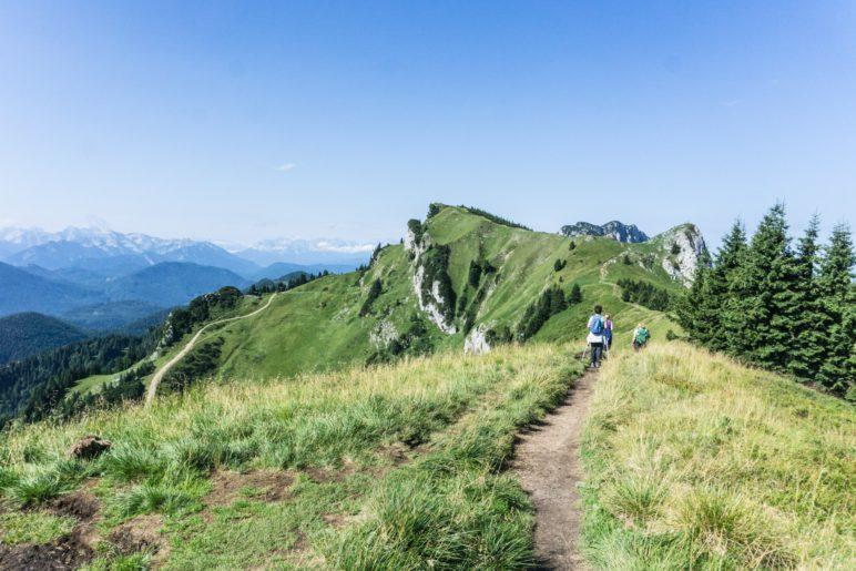 Auf dem Weg zum Kirchstein und Latschenkopf