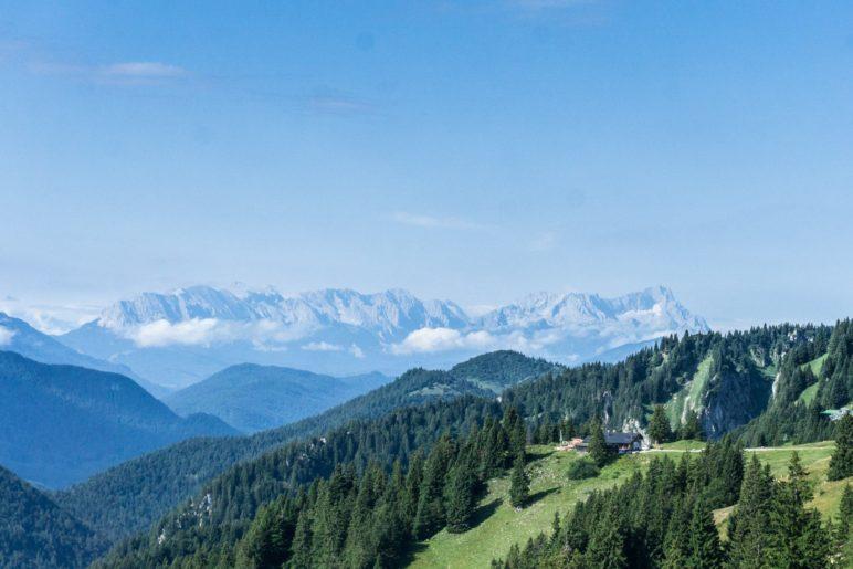 Alpenpanorama mit Zugspitzblick vom Brauneck