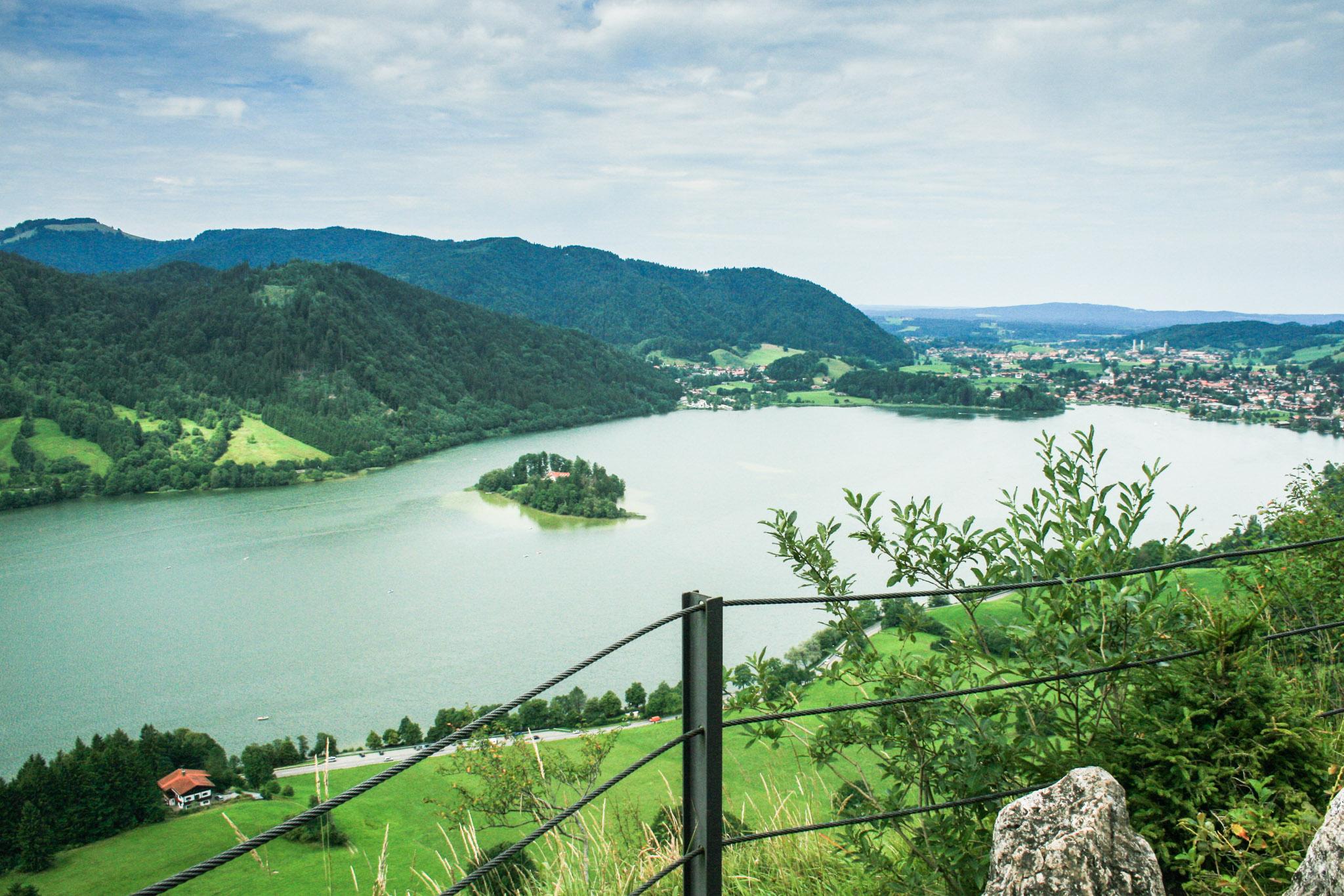 Aussicht von Hohenwaldeck auf den Schliersee