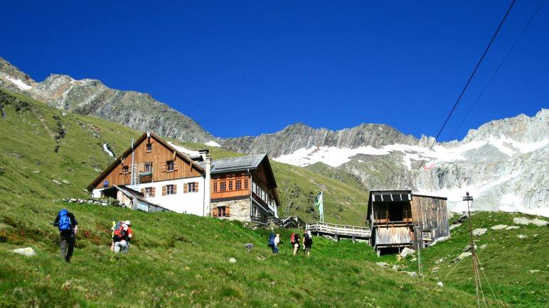 Das Furtschaglhaus - Ziel der ersten Etappe der Wanderung