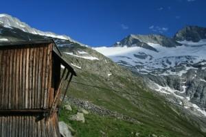 Die Bergstation der Materialseilbahn