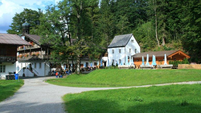 Das Gasthaus Altes Bad, direkt neben der Tagungsstätte Wildbad Kreut
