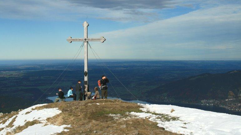 Das Gipfelkreuz des Hirschberg
