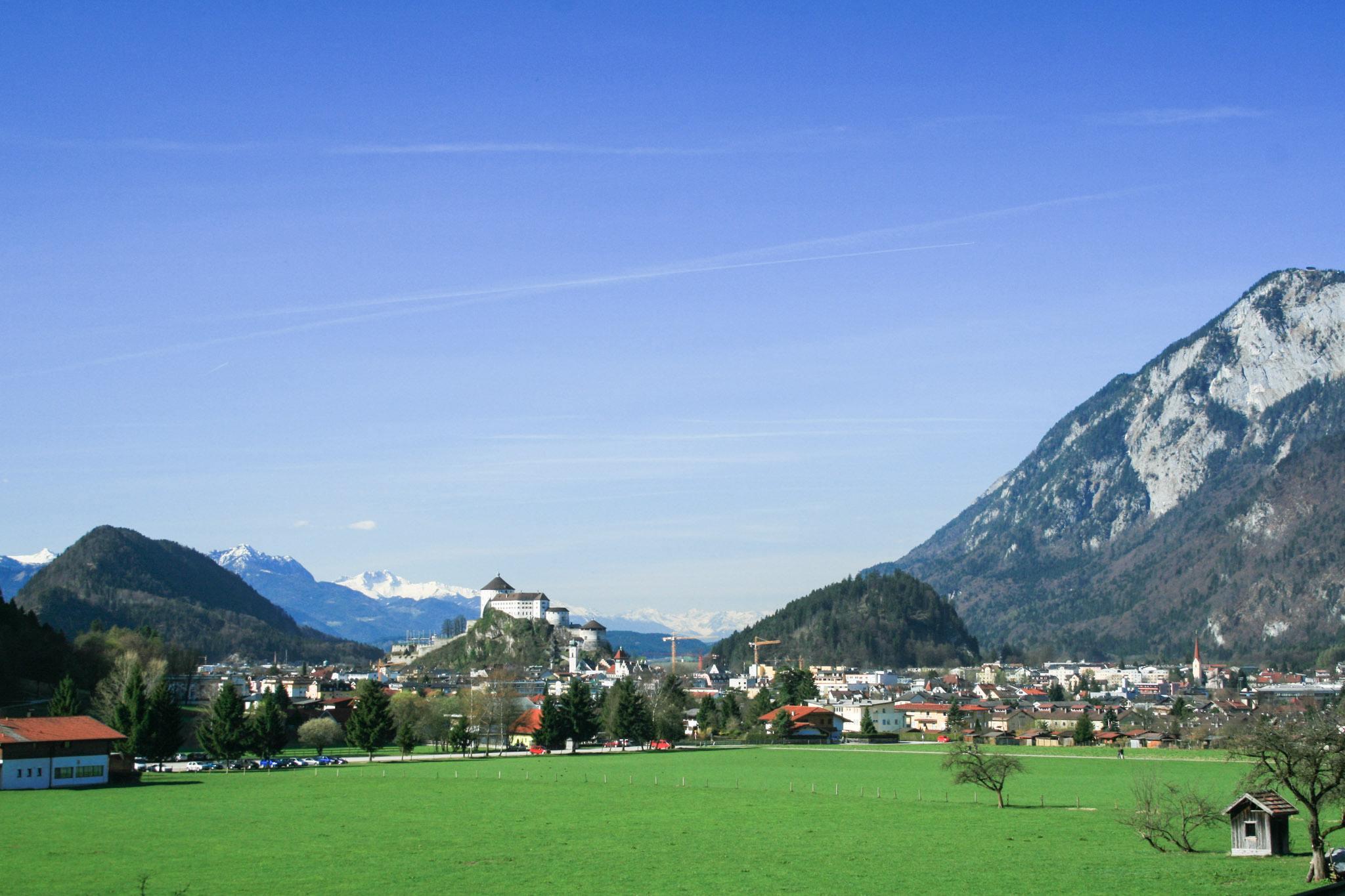 Kurz vor der Theaterhütte: Blick auf Kufstein