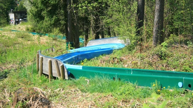 Die Sommerrodelbahn der Schliersbergalm