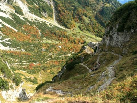 Serpentinenweg oberhalb des Klammls