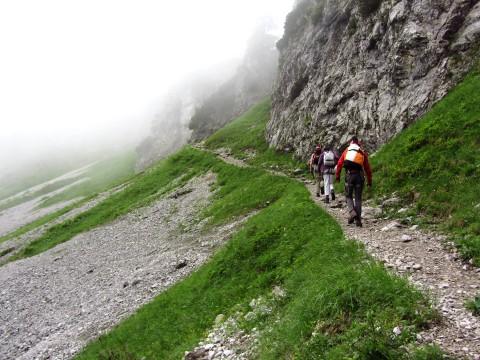 Nach der Leiter, weiter in Richtung Klamml - und Nebel