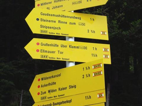 Mehrere Wege führen zur Gruttenhütte - wir wollen durchs Klamml