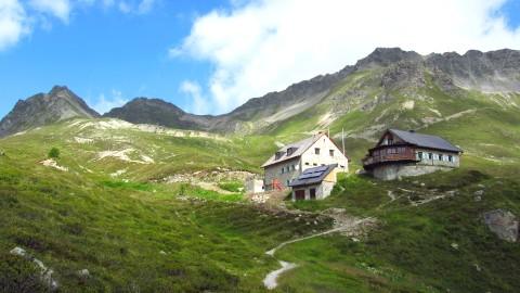 Die Friedrichshafener Hütte im Verwall oberhalb von Galtür