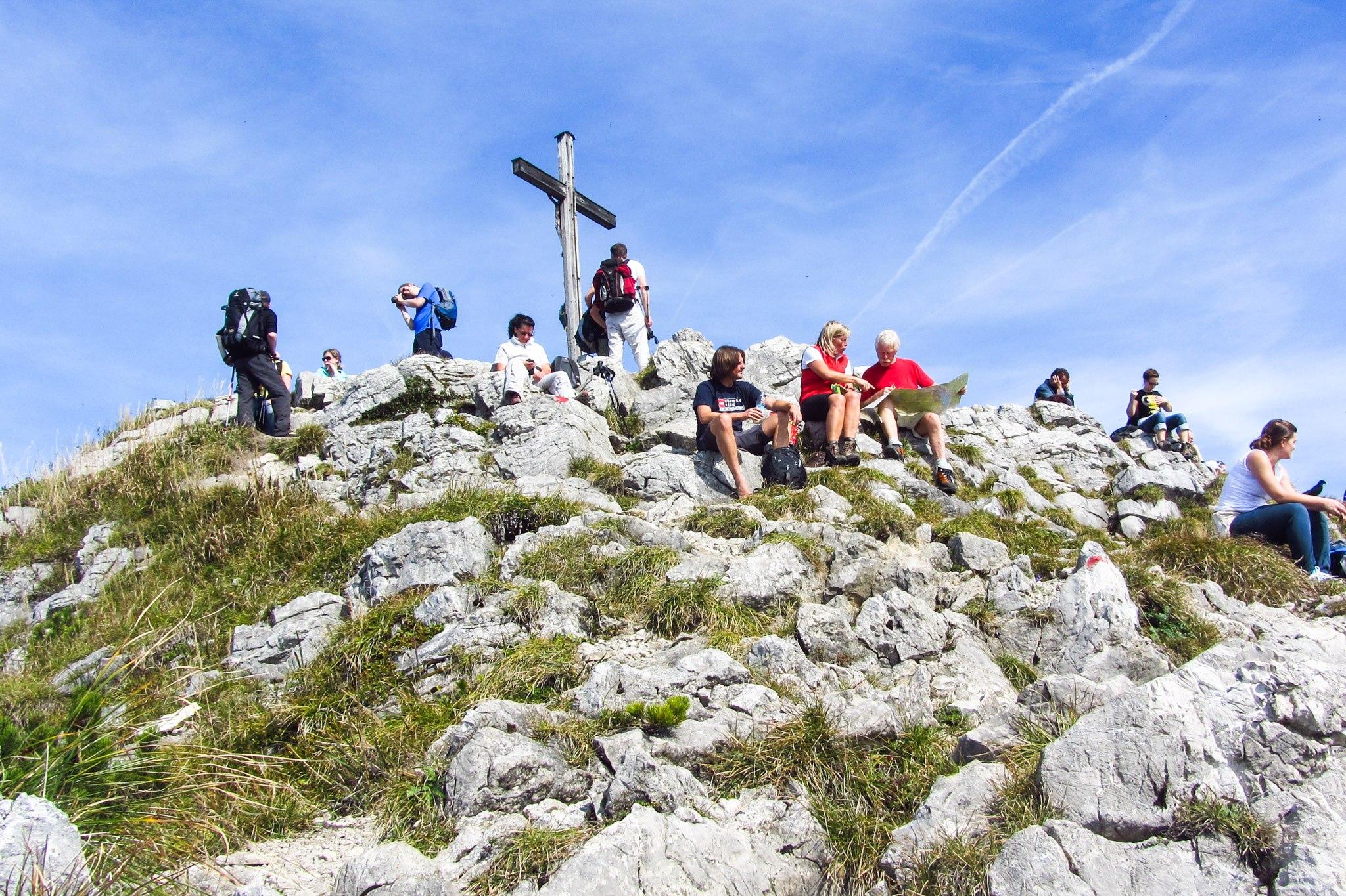 Auf dem Gipfel des Brecherspitz