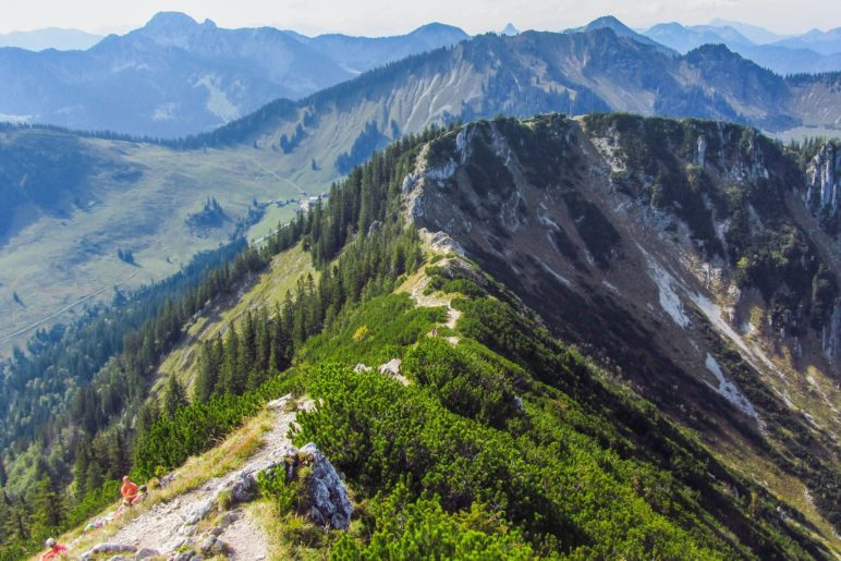 Gratwanderung vom Gipfel - am Brecherspitz