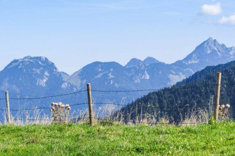 Schöner Blick auf Breitenstein und Wendelstein