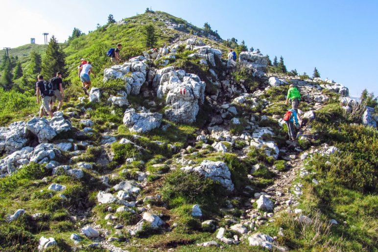 Der erste Anstieg auf der Wanderung zur Cima delle Pozzette